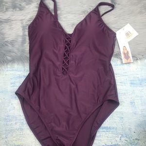 945f7aea145c5 Ellen Tracy Swim | Nwt Olive One Piece Ruched Suit | Poshmark